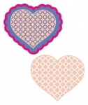 Quatrefoil Heart with Scalloped Heart SVG